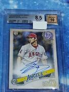 Shohei Ohtani Gypsy Queen Rookie Year Autograph Card Topps Bgs 8.5 Baseball Card