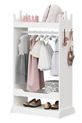 Utex Kid's See And Store Dress-up Center, Costume Closet For Kids, Open Hanging