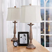 Maxax Table Lamps Set Of 2, Modern Bedside Lamp For Living Room Bedroom,antique