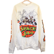 T205 Vintage Warner Bros Space Jam Graphic Tee Long Sleeve Made In Usa Menand039s Xl