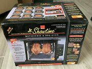 New Ronco Showtime Jr. 2500 Black Rotisserie Bbq Oven Set It And Forget It