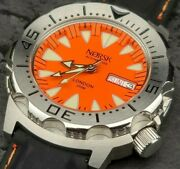 Automatic Sea Monster Watch Norsk Norway Diver Seiko Nh36a Movement. Orange