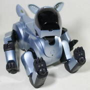 Sony Aibo Ers-210 Entertainment Robot Pet Dog Set Silver [operation Confirmed]