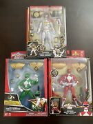 Mighty Morphin Power Rangers Armored Red Green White Ranger Lot Megaforce 20th