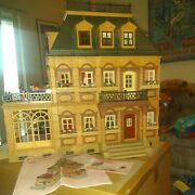 Playmobil Rare Victorian Mansion Doll House With Tons Of Accessories 5300
