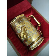 A Beer Mug In Gold. A Gift For A Beer Lover. Luxury Collectible Birthday Gift
