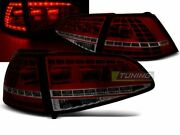 Feux Arriandegraveres Pour Vw Golf 7 Vii 13-rouge Fumandeacutee Led Gti Look Ca Ldvwg1wp Xino Ca