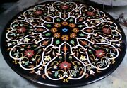 42 Inches Marble Dining Table Top Mosaic Art Elegant Look Sofa Table For Home
