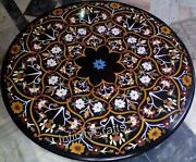 48 Inches Marble Dining Table Top Peitra Dura Art Center Table For Home Decor