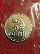 2011 Canada 1 Oz Fine Silver Timber Wolf Maple Leaf 5 Coin Mint Sealed