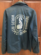 Mens Uss Dolphin Worlds Deepest Diving Submarine Us Navy Crew Jacket 1960s 1970s