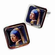 Unique Girl With A Pearl Earring Cufflinks Chrome Cuffs Smart Suit Vermeer Men