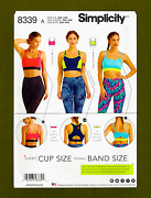 Sports Bras Sewing Patternincludes Plus Sizes Sizes 30a-44g Simplicity 8339
