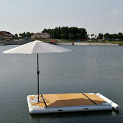 Inflatable Commercial Grade Pvc Floating Fishing Platform Dock Pier New