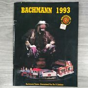1993 Bachmann Trains Catalog 63 Pages, Ho, N And O Scale - Kits, Figures, Circus