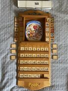 Winnie The Pooh Perpetual Wall Calendar Plate Boxes Coa Complete Mint