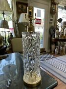 Beautiful Waterford Sylinder Crystal Table Lamp