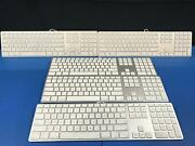 Lot Of 5 Apple A1243 Wired Usb Keyboard Mb110ll/a White