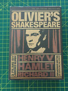 Olivier's Shakespeare - Criterion Collection 3 Movie Dvd Set New Sealed Oop Htf