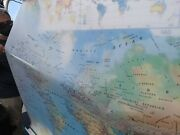 Nystrom Pull Down Map, Both World And U.s., With Transparencies,