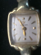 Vintage 14k Yellow Gold Ladies Omega Dress Watches Works Great