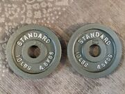 Cap 10 Lbs Olympic Weight Plates, Pair-2 Plates 20 Lbs Total. - Lightly Used