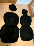 Mercedes W123 Front Seat + Head Rest Sheep Skin Covers For 2 Or 4 Do0r Models