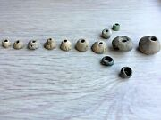 Rare Ancient Roman Ceramic And Lead Spindle-shaped Artifacts. 13 Pieces