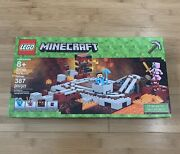 Brand New In Box Lego Minecraft 2018 The Nether Railway 21130 Steve - Ships Fast