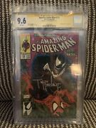 Amazing Spider-man 316 Cgc 9.6 Signed By Todd Mcfarlane First Venom Cover