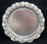 Vintage Gregorian Hammered 100 Copper Daisy Plate 9.5 Hanging Wall Plaque/tray