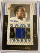 Barry Sanders Game Jersey 1996 Ud Upper Deck Game Worn Used 12500 Packs Lions