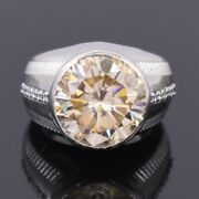 Rare 8.50 Ct Champagne Diamond Solitaire Ring Amazing Shine And Luster Watch Video