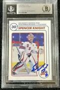 Spencer Knight Signed Usa Ntdp Team Issued 1st Ever Card Beckett Certified