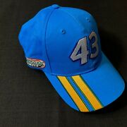 Nascar 43 Richard Petty Blue Cap Hat Eckrich Nathanand039s Embroidered Hook Loop