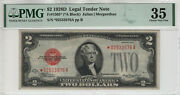 1928 D 2 Legal Tender Red Seal Star Note Fr.1505 Pmg Choice Very Fine 35 976