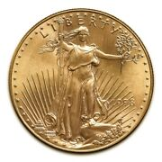 5 1/4 Oz Gold American Eagle Coins In Capsule . Total Of 1.25 .oz Of .999 Gold