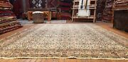 Rare 1940-1950and039s Semi-antique Natural Dye Wool Pile Hereke Area Rug 6and0397andtimes9and0398