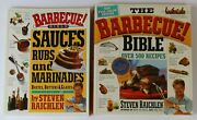 Steven Raichlen Bbq Lot Of 2 The Barbecue Bible + Sauces Rubs And Marinades