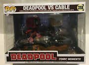 Funko Pop Marvel Deadpool Vs. Cable 318 Movie Moments Free Shipping