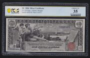 Us 1896 1 Education Silver Certificate Fr 224 Pcgs 35 Ch Vf 749