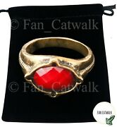 Gandalf Ring Narya Lord Of The Rings Lotr Hobbit Red Ring Of Fire Power Wizard