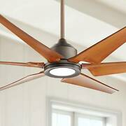 72 Modern Large Outdoor Ceiling Fan With Light Led Remote Bronze Damp For Patio