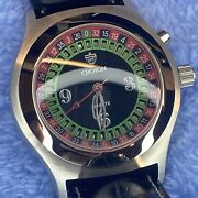 Led Roulette Wheel Playing Croton Menand039s Watch Works New Battery Cn307038