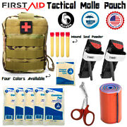 Tactical First Aid Kit W/molle Pouch - Outdoor Emergency Survival Bag Ifak Emt