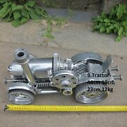 Tractor. Metal Art Present Cristmas Family Office Water River Tools Home Room G
