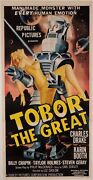 Original Vintage American Movie Poster For Tobor The Great Large Size 80x40.5