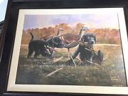 Phillip Crowe Title Unknown Canvas Puppies And Decoy Framed2469/2500