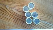 6 Rolls Half Dollar Coins, Unsearched, Loomis Sealed From Bank Cirulated,60 Fv