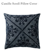 Serena And Lilly Camill Scrolled Pillow Cover 24 X 24 Square Navy White 88